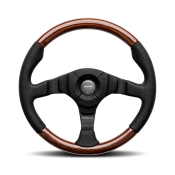 MOMO Dark Fighter Wood Steering Wheel